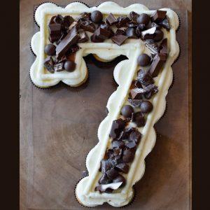 Cupcakecijfer Chocolade PLUS