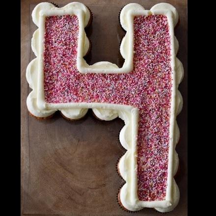 Cupcakecijfer Roze Sprinkels