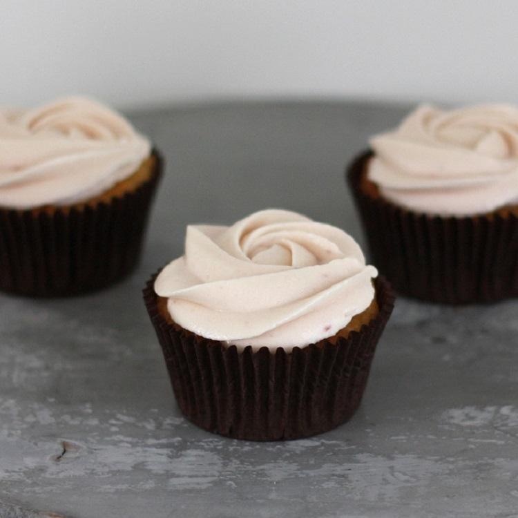 Cupcakerij Cupcake Vanille - Framboos