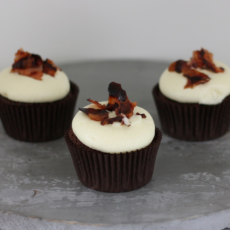 Cupcakerij Cupcake Chocolade - Whisky Bacon