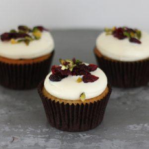 Cupcakerij Cucpake Witte Chocolade - Cranberry Pistache